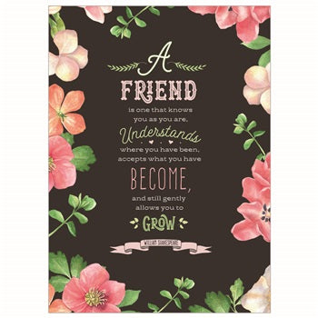 Shakespeare Friendship Card - Courtyard Style