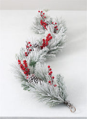 Frosted Pine Berry Garland - Courtyard Style