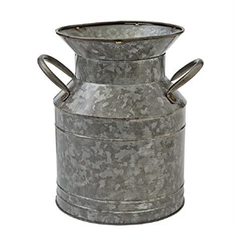 Galvanized Tin Jug - Courtyard Style