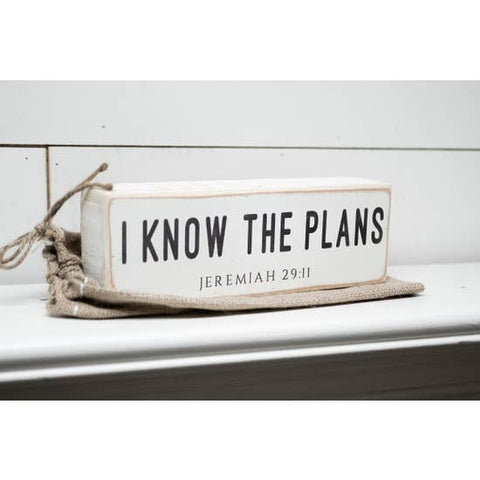 I Know the Plans Shelf Sitter - Courtyard Style