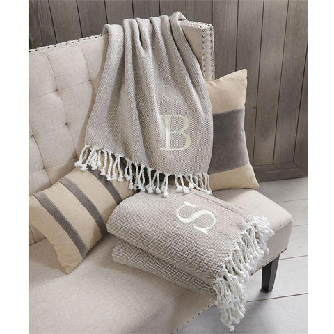 Initial Throw Blanket Assorted - Courtyard Style