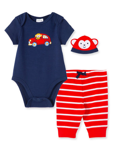 Monkey Bodysuit and Pant Set - Courtyard Style