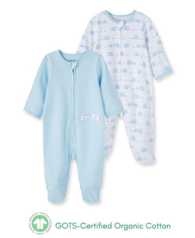 Elephant Footie 2pc - Courtyard Style