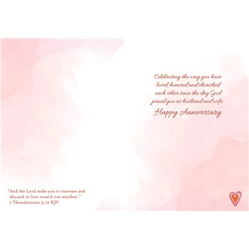 Greatest Love Heart Vines Anniversary Card - Courtyard Style