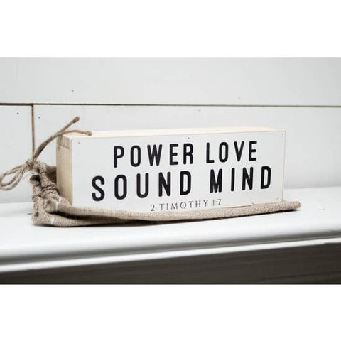 Power Love Sound Mind Shelf Sitter - Courtyard Style