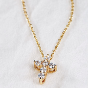 Pave Cross Necklace - Courtyard Style