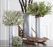 Tin Cylinder Vases - Courtyard Style