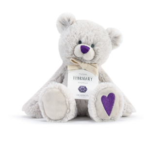 February Birthstone Bear - Courtyard Style