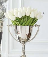 White Real Touch Mini Tulip Stem - Courtyard Style