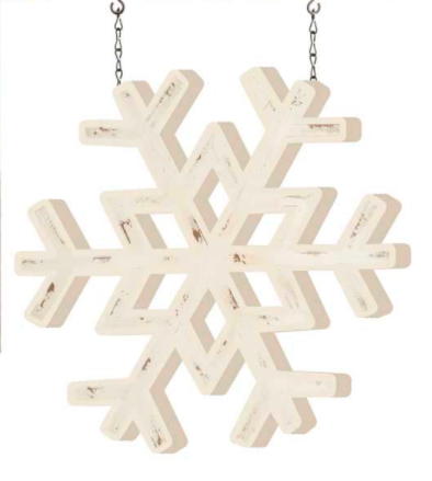 White Painted Snowflake Arrow Replacement - Courtyard Style