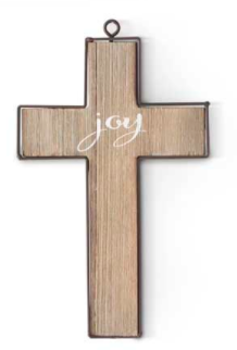Barnwood Cross Ornament - Courtyard Style