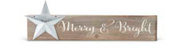 Barnwood Sign with Star - Courtyard Style