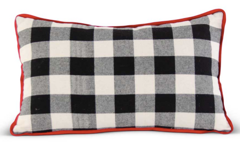 Black & White Buffalo Check Pillow - Courtyard Style