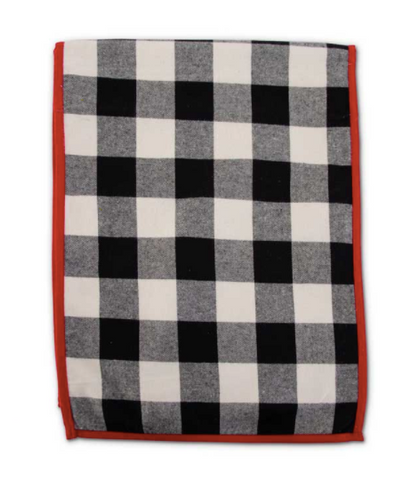 Black and White Buffalo Check Runner - Courtyard Style