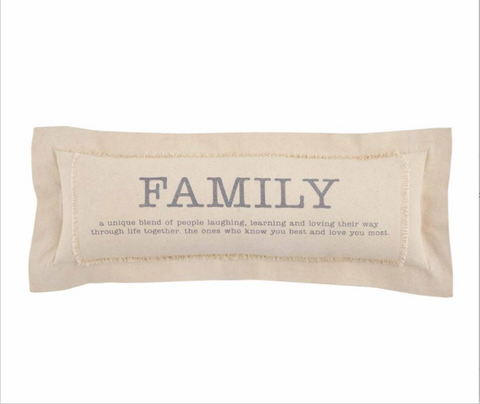 Family Definition Pillow - Courtyard Style