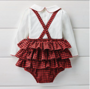 Buffalo Check Pinafore Set - Courtyard Style