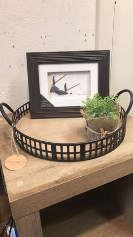 Black Round Tray Small - Courtyard Style