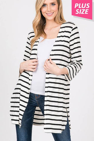 Striped Cardigan - Courtyard Style