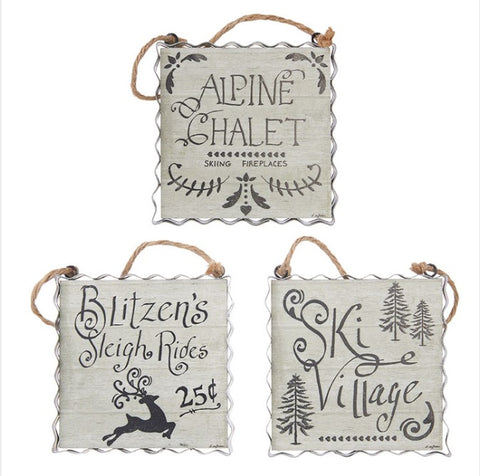 Alpine Holiday Ornament - Courtyard Style