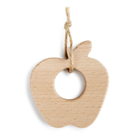 Apple Natural Wood Teether - Courtyard Style