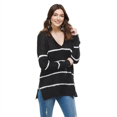 Casper Stripe Sweater - Courtyard Style