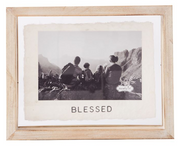 Blessed Glass Frame - Courtyard Style