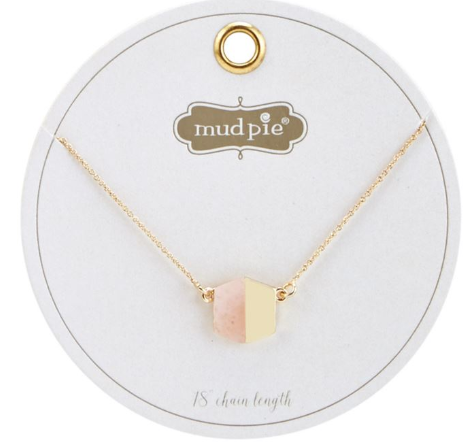 Marble Necklace- Blush - Courtyard Style
