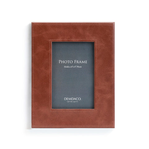 Brown Leather 4X6 Frame - Courtyard Style