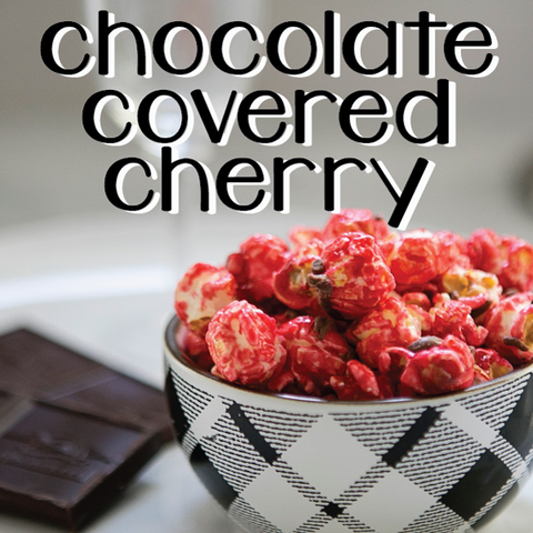 Chocolate Covered Cherry Popcorn - Courtyard Style