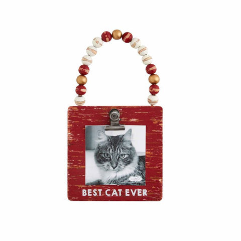 Cat Frame Ornament - Courtyard Style