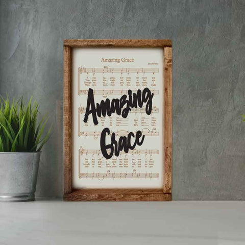 Engraved Hymn Amazing Grace - Courtyard Style