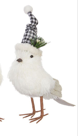 White Bird with Hat - Courtyard Style