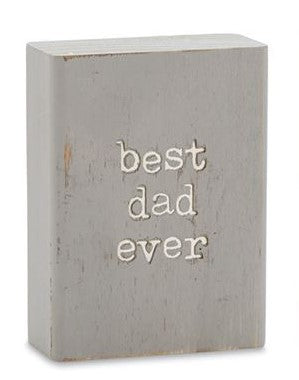 Best Dad Ever Plaque - Courtyard Style