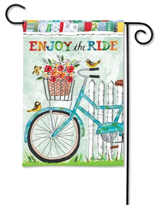 Enjoy the Ride Garden Flag - Courtyard Style
