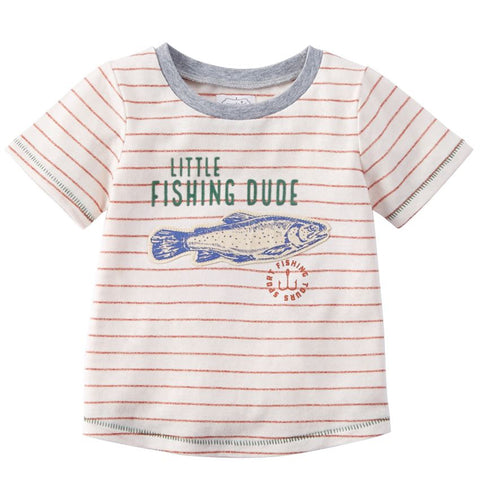 Little Fishing Dude T-Shirt - Courtyard Style