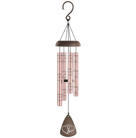 In Our Hearts Rose Gold Sonnet Chime - Courtyard Style