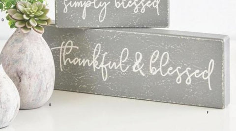 Thankful & Blessed Sign - Courtyard Style