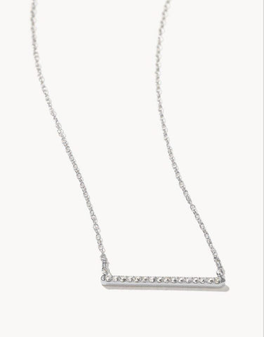 Horizon Necklace Crystal Silver - Courtyard Style