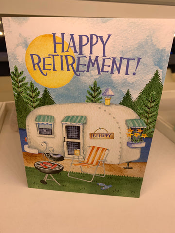 Retirement Cookout Card - Courtyard Style