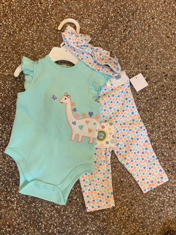 Dino Girl Bodysuit and Pant Set - Courtyard Style