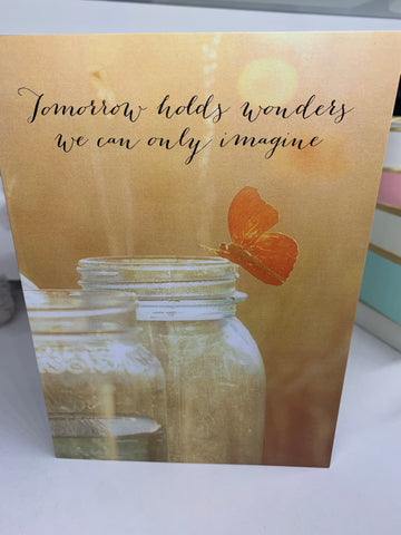 Butterfly Jar Card - Courtyard Style