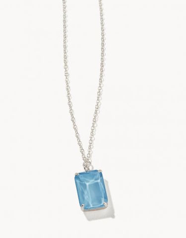 Mermaid Glass Rectangle Bitty Necklace - Courtyard Style
