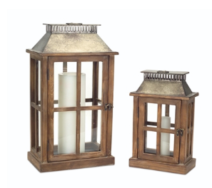 Lantern Wood/Metall/Glass - Courtyard Style