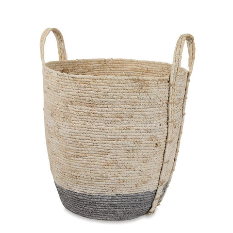 Two Tone Corn Husk Basket Set - Courtyard Style