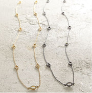 Long Pave Necklace - Courtyard Style