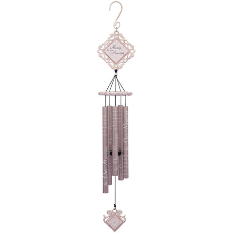 "35"" Beautiful Memories Vintage White Chime - Courtyard Style"