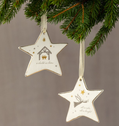 Rejoice Star Ornaments - Courtyard Style