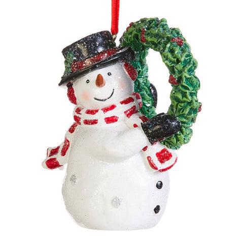 Snowman with Wreath Ornament
