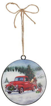 Truck or Tractor Disk Ornament
