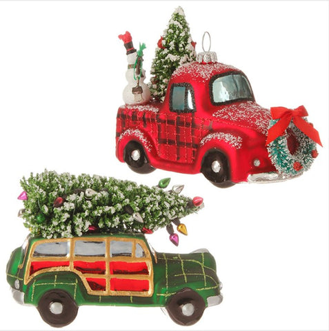 Automobile with Tree Ornament